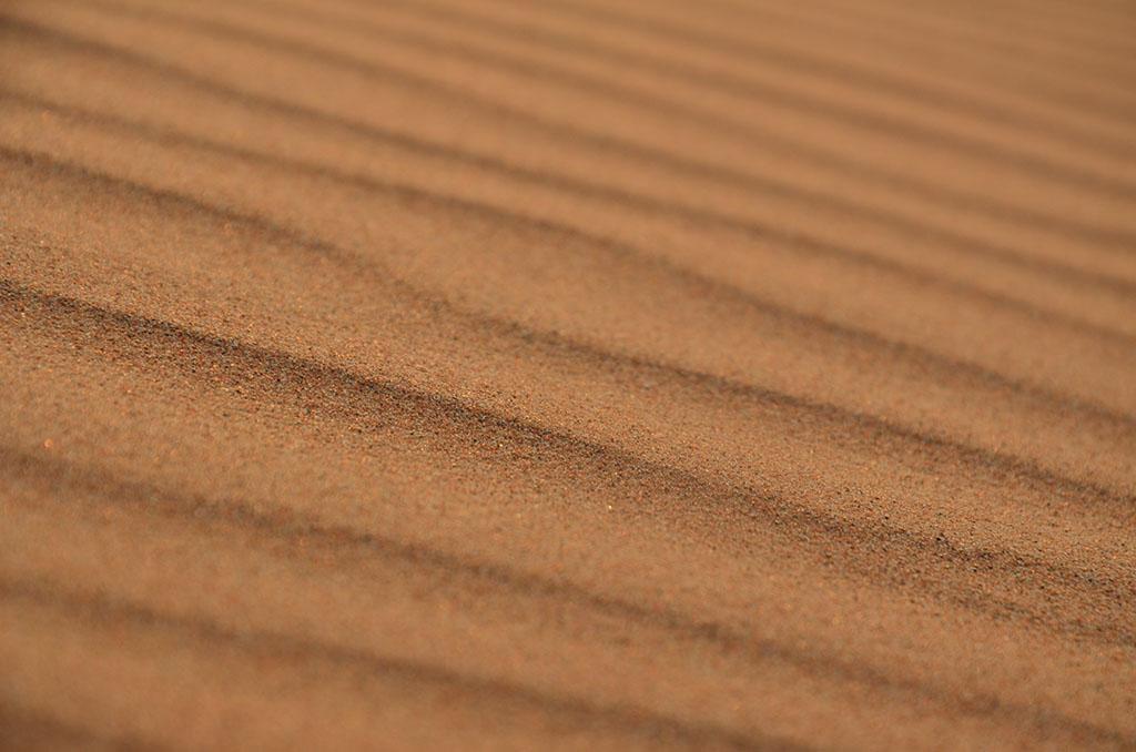 Nur Sand mit Fokus